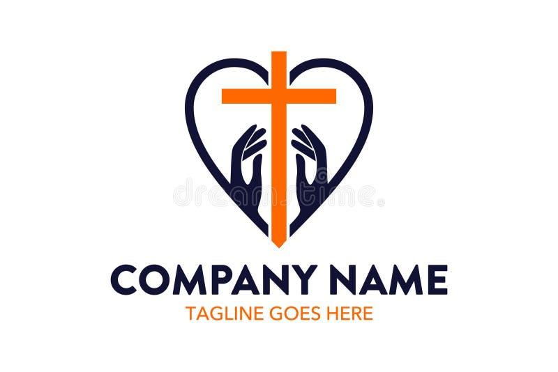 Plantilla única del logotipo de la iglesia libre illustration