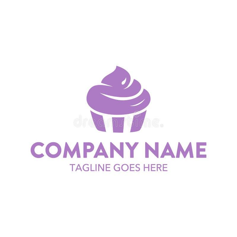 Plantilla única del logotipo de la torta y de las galletas Vector editable ilustración del vector