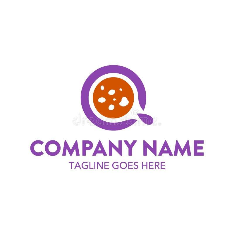 Plantilla única del logotipo de la torta y de las galletas Vector editable stock de ilustración