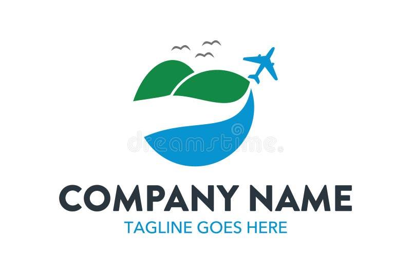 Plantilla única del logotipo del viaje y del hotel Vector editable libre illustration