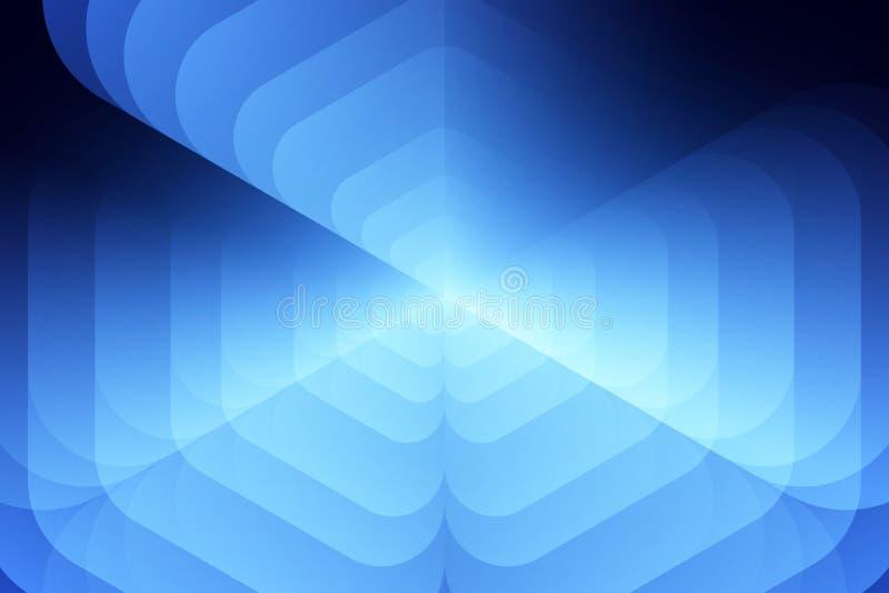 Plantilla abstracta azul para la tarjeta o la bandera Fondo del metal con las ondas y las reflexiones Fondo del asunto Ilustraci? ilustración del vector