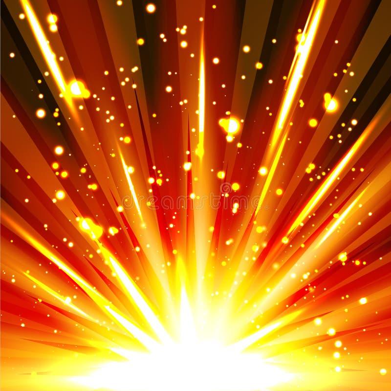 Plantilla abstracta colorida del fondo de la explosión con las chispas ilustración del vector