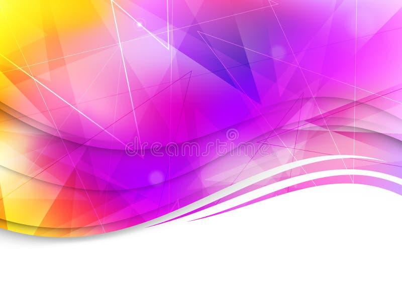 Plantilla abstracta colorida - fondo stock de ilustración
