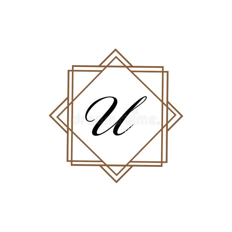 Plantilla abstracta corporativa del diseño del logotipo del vector de la unidad del negocio de la letra U ilustración del vector