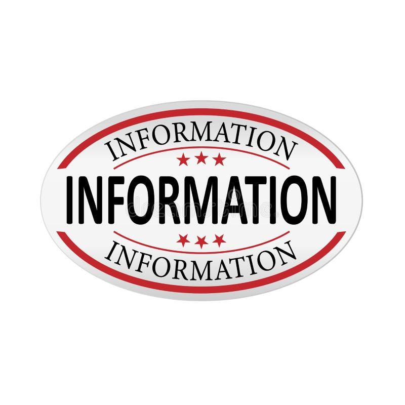 Plantilla abstracta de la información con las etiquetas de la web de papel libre illustration