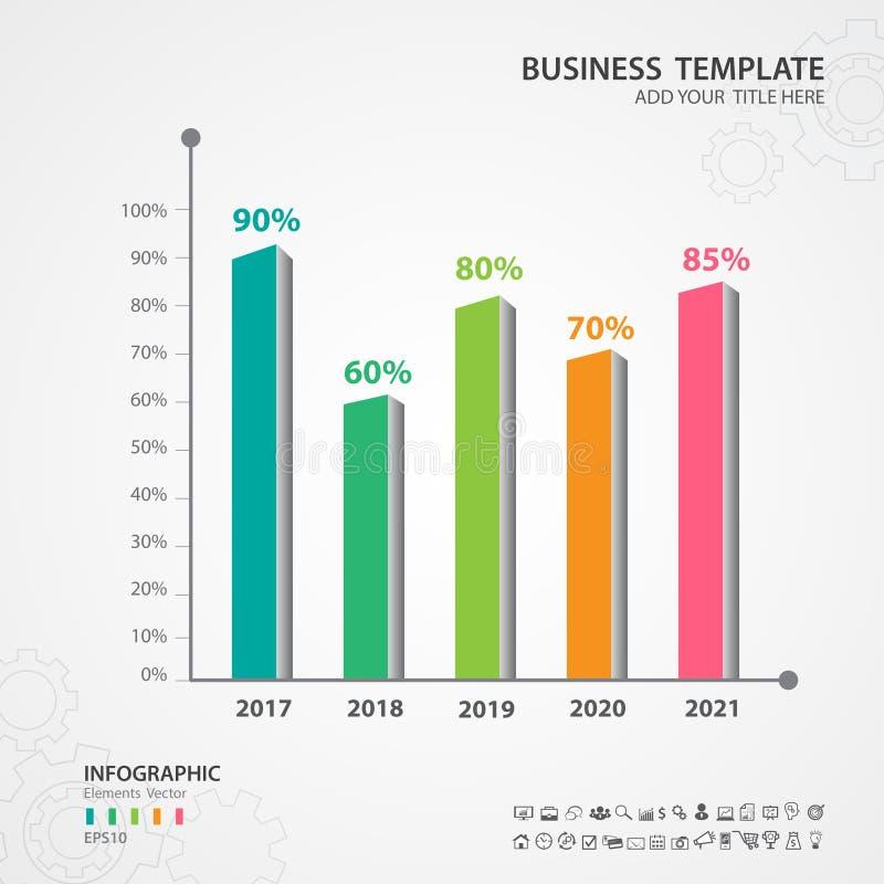 Plantilla abstracta de las opciones del número del infographics, 3d rectangular, carta, cronología, diagrama, diapositiva, vector stock de ilustración