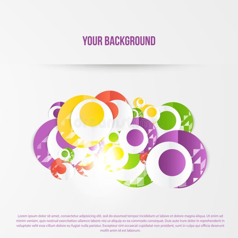 Download Plantilla Abstracta De Los Círculos Del Vector Web Del Objeto Ilustración del Vector - Ilustración de negocios, bandera: 44853501
