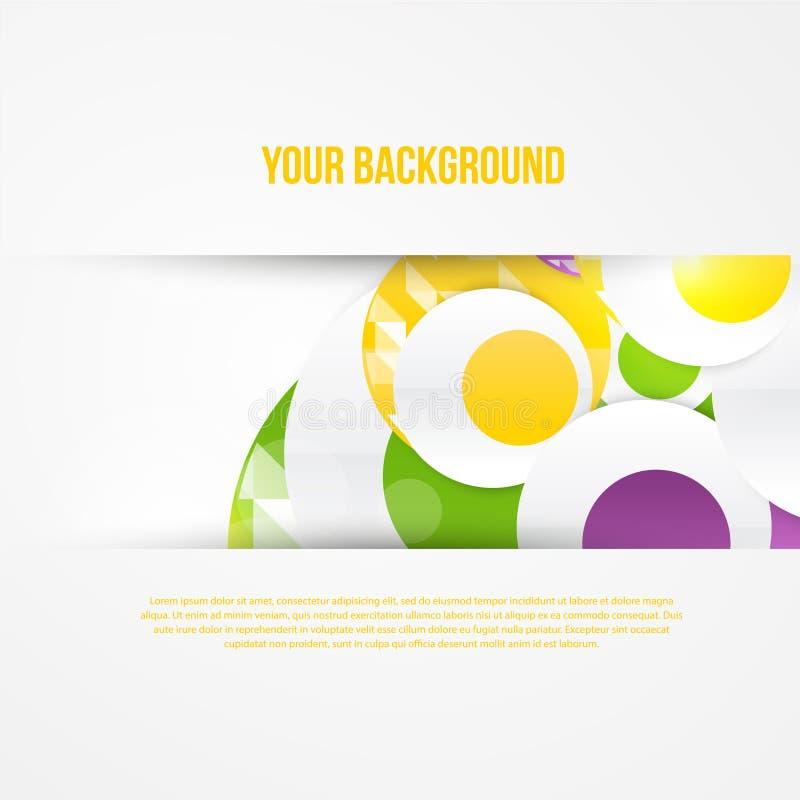 Download Plantilla Abstracta De Los Círculos Del Vector Web Del Objeto Ilustración del Vector - Ilustración de diseño, círculo: 44853899