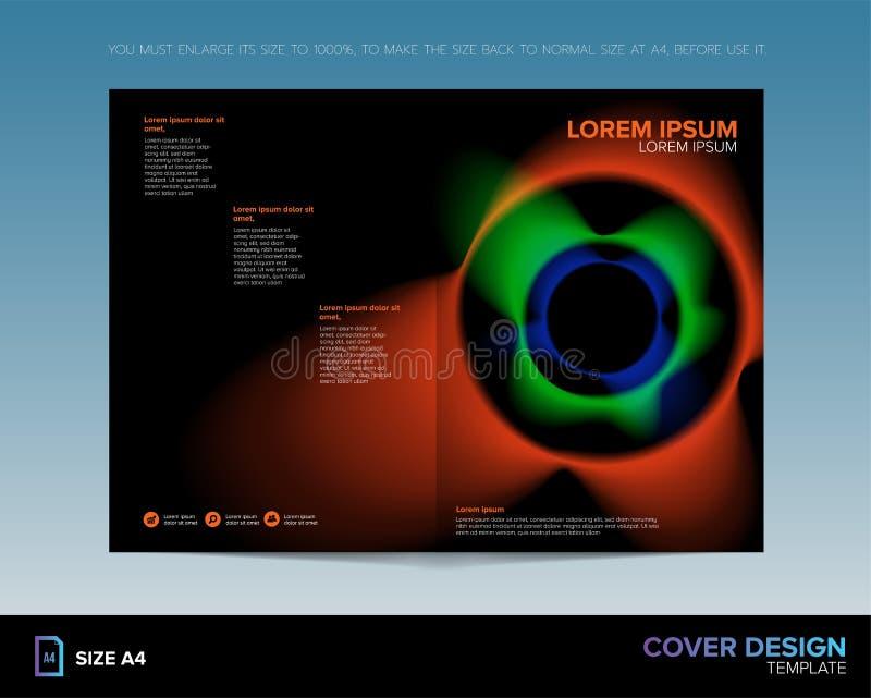 Plantilla abstracta del diseño de la cubierta de libro stock de ilustración