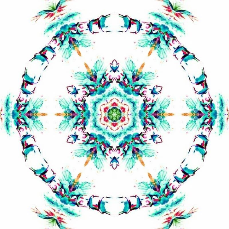 Plantilla abstracta del diseño de la mandala stock de ilustración
