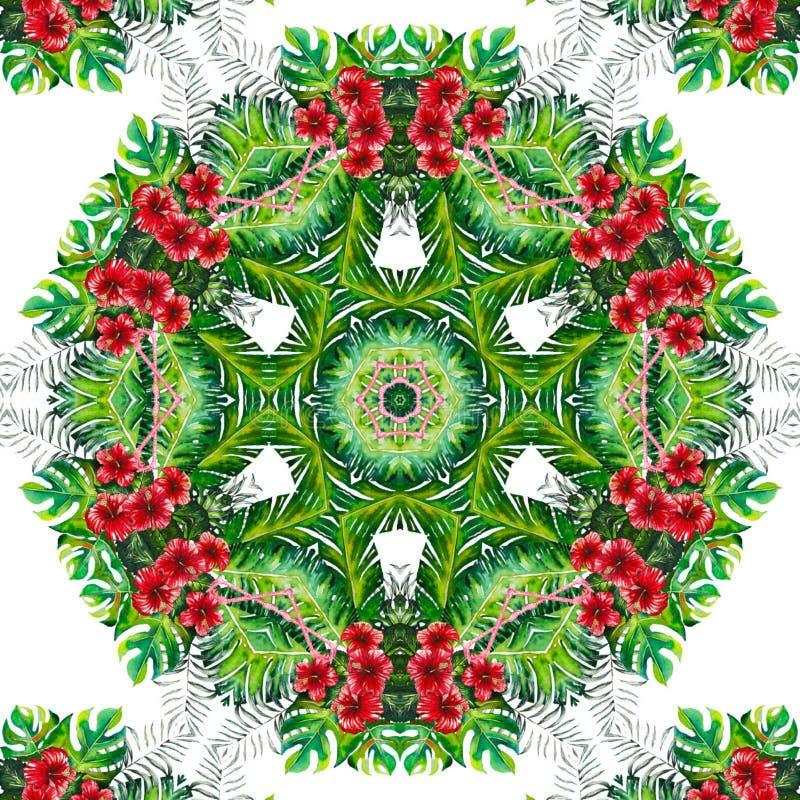 Plantilla abstracta del diseño de la mandala libre illustration