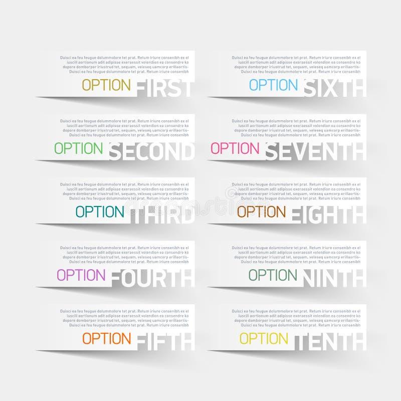 Plantilla abstracta del diseño de las opciones del infographics ilustración del vector