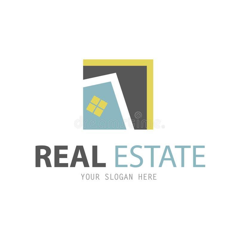 Plantilla abstracta del diseño del logotipo de la casa stock de ilustración