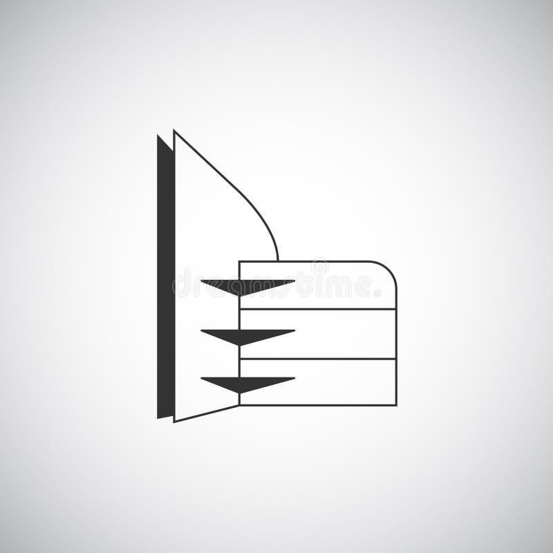 Plantilla abstracta del diseño del logotipo de la silueta del edificio de la arquitectura Icono del tema del negocio de las propi stock de ilustración
