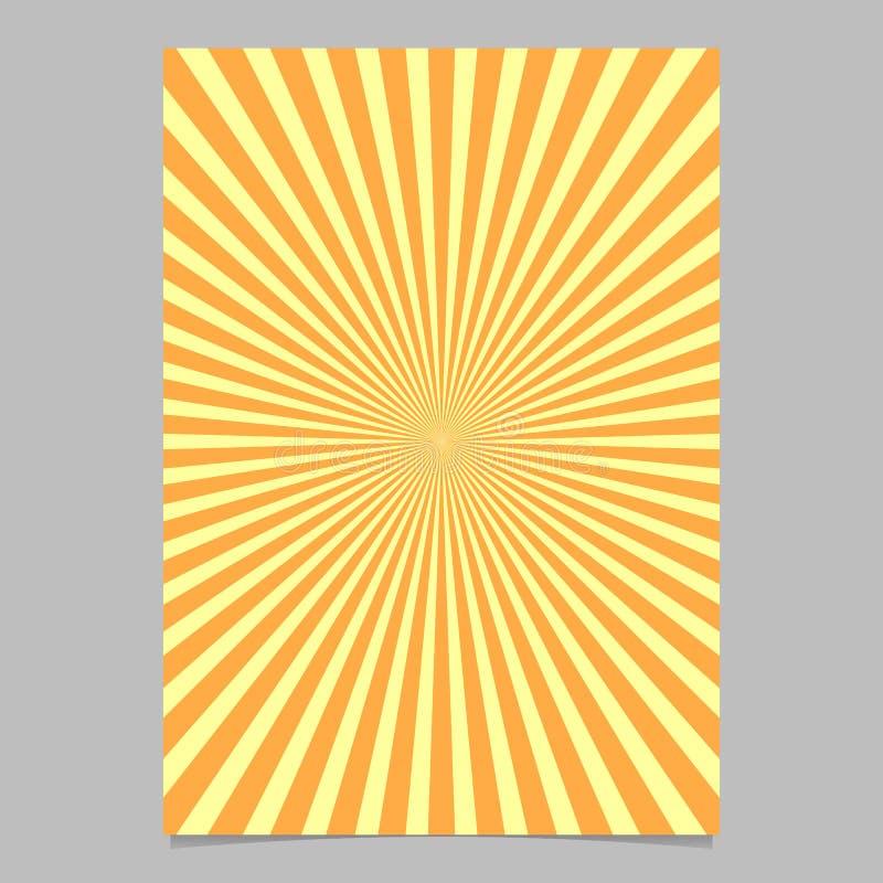 Plantilla abstracta del diseño del folleto del resplandor solar - fondo de la página del vector ilustración del vector