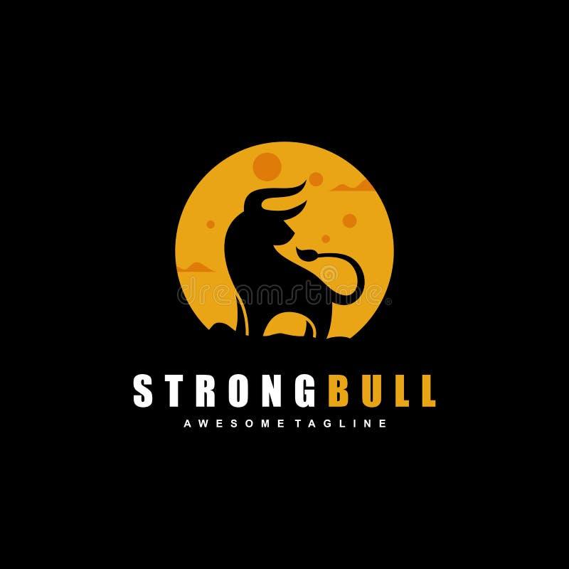 Plantilla abstracta del diseño del vector del ejemplo del concepto de Bull stock de ilustración
