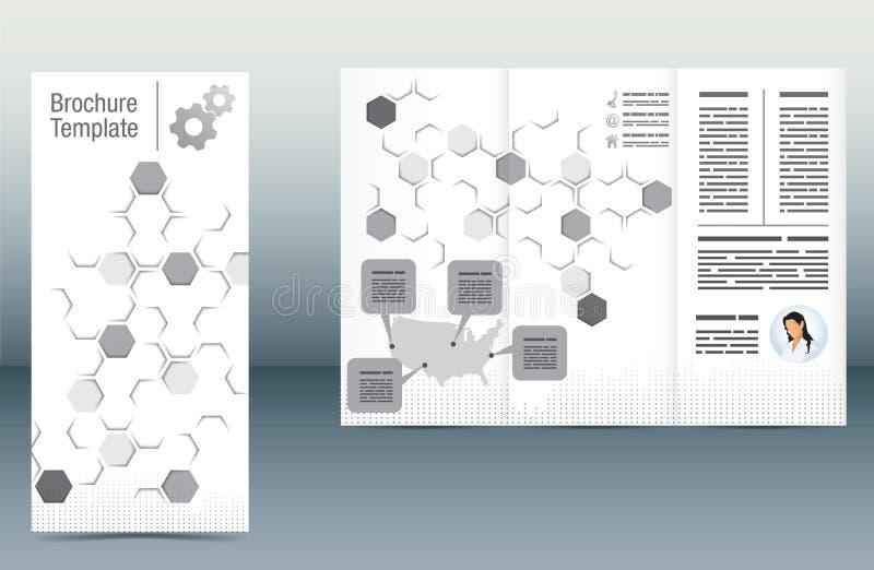 Plantilla del folleto ilustración del vector