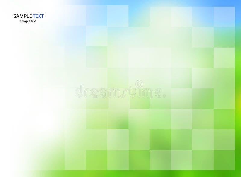 Plantilla abstracta del fondo - color verde azul de la textura del negocio stock de ilustración
