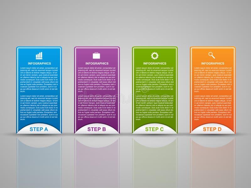 Plantilla abstracta del infographics de las opciones del negocio 3D libre illustration