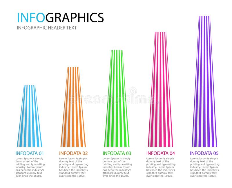 Plantilla abstracta del infographics Visualización de los datos de negocio libre illustration