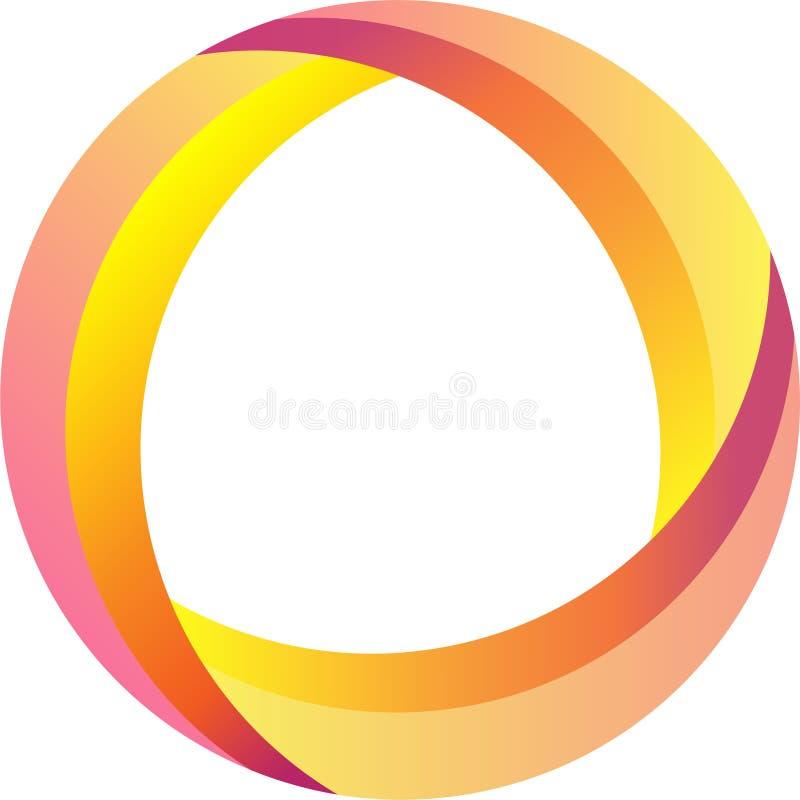Plantilla abstracta del logotipo del bucle infinito Icono corporativo stock de ilustración