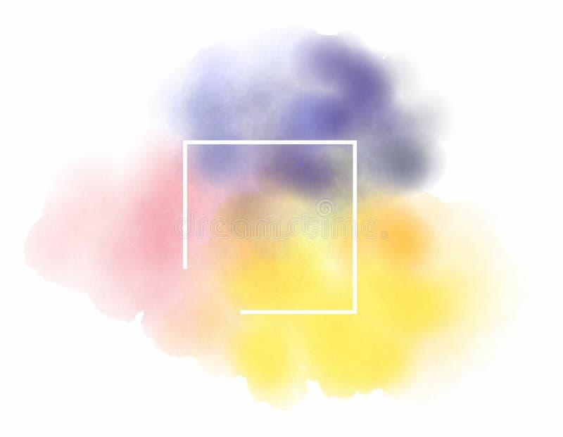 Plantilla abstracta del logotipo de la acuarela en el fondo blanco aislado foto de archivo libre de regalías