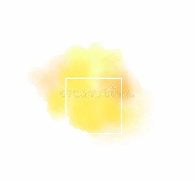 Plantilla abstracta del logotipo de la acuarela en el fondo blanco aislado fotografía de archivo