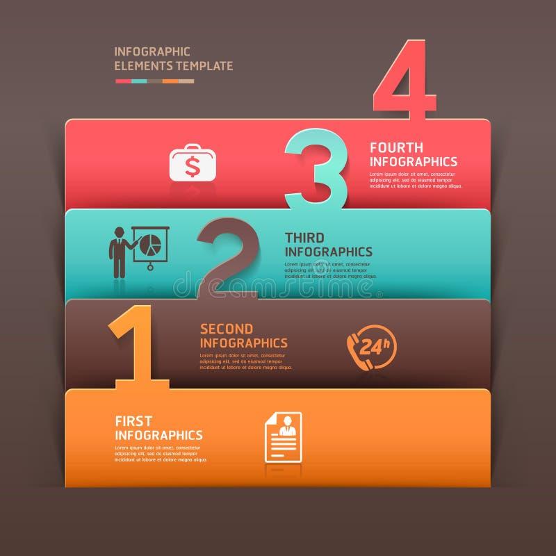 Plantilla abstracta del número del infographics del negocio. libre illustration