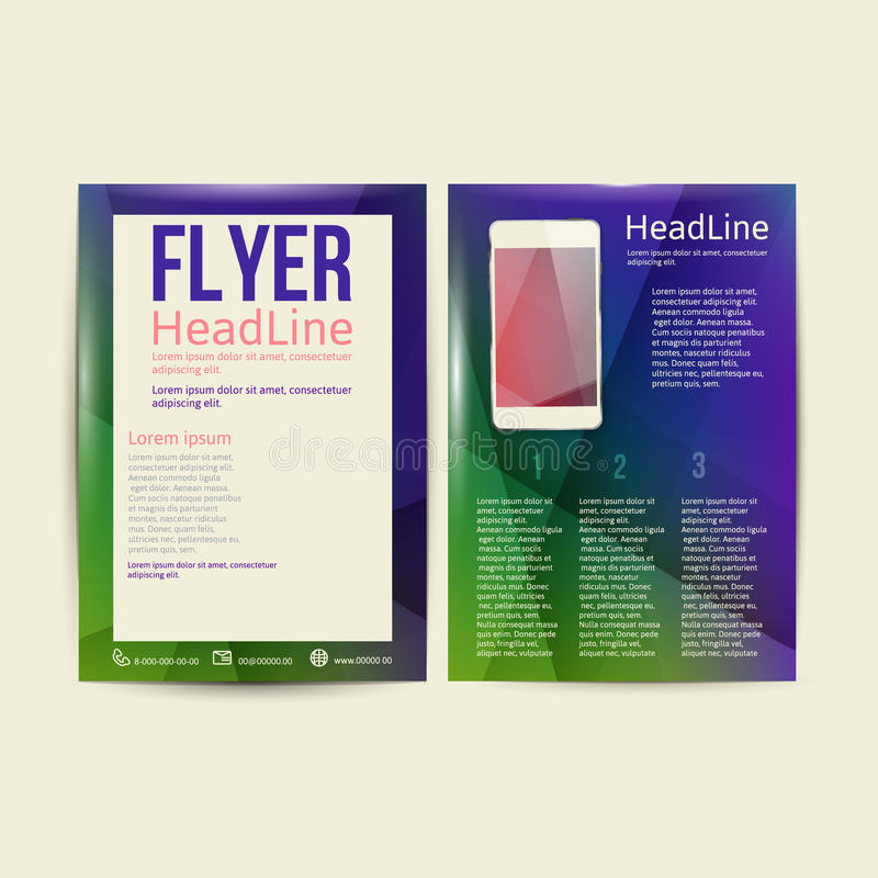 Plantilla abstracta del vector del diseño del aviador del folleto libre illustration