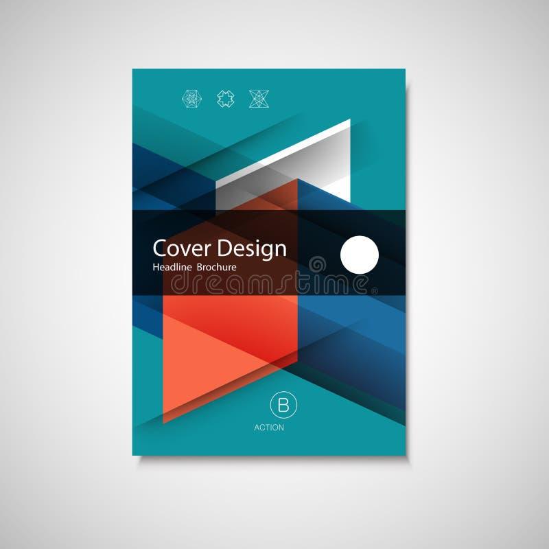 Plantilla abstracta del vector del diseño del aviador del negocio de tamaño A4 Informe anual o cubierta de libro Folleto simple d libre illustration
