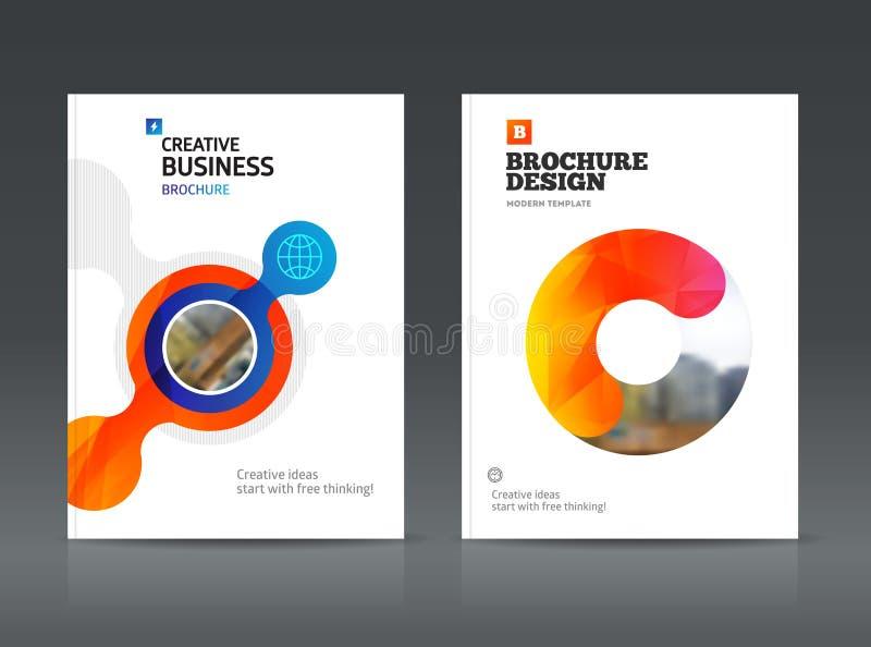 Plantilla abstracta del vector del diseño del folleto del negocio de tamaño A4 stock de ilustración