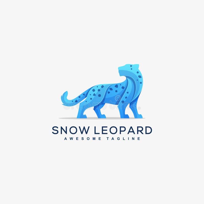Plantilla abstracta del vector del ejemplo del concepto del Snow Leopard stock de ilustración