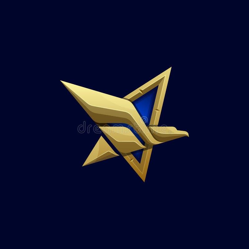 Plantilla abstracta del vector del ejemplo de Eagle de las estrellas ilustración del vector