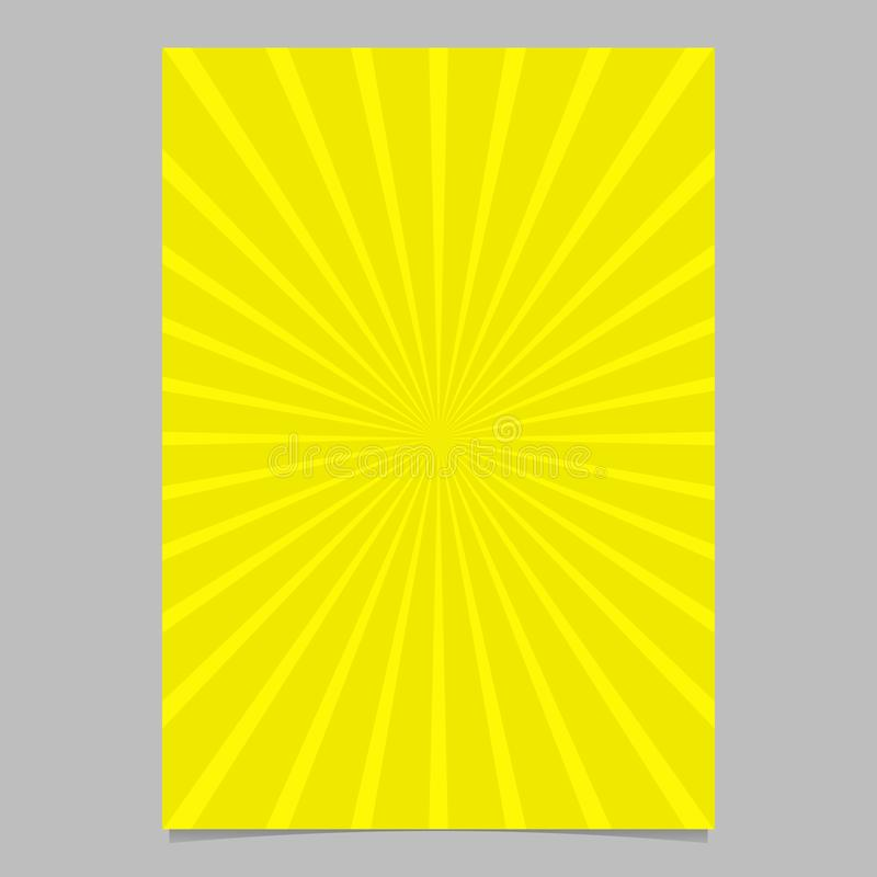Plantilla abstracta dinámica del aviador del rayo solar - gráfico del fondo de los efectos de escritorio del vector ilustración del vector