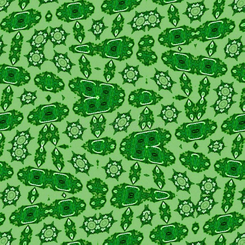 Plantilla abstracta en el contexto verde Modelo de estrella geométrico moderno Deje la textura Concepto de sistema Células madres fotos de archivo libres de regalías