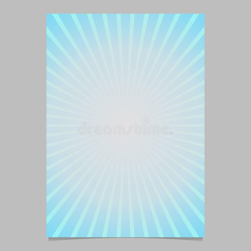 Plantilla abstracta geométrica del folleto de la explosión del sol - diseño del fondo de la página de la pendiente con las líneas stock de ilustración