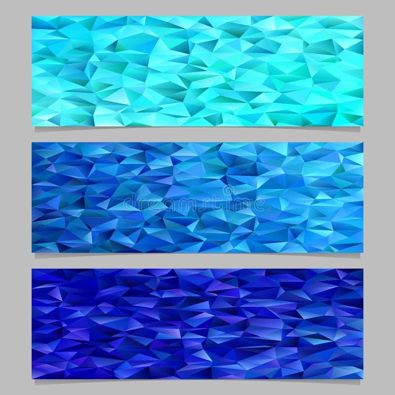 Plantilla abstracta geométrica del fondo de la bandera del mosaico del modelo del polígono del triángulo stock de ilustración