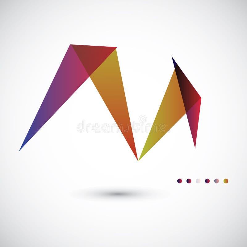 Plantilla abstracta geométrica del vector ilustración del vector