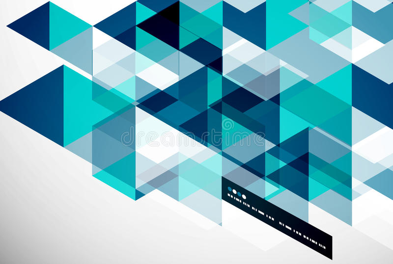 Plantilla abstracta geométrica moderna libre illustration