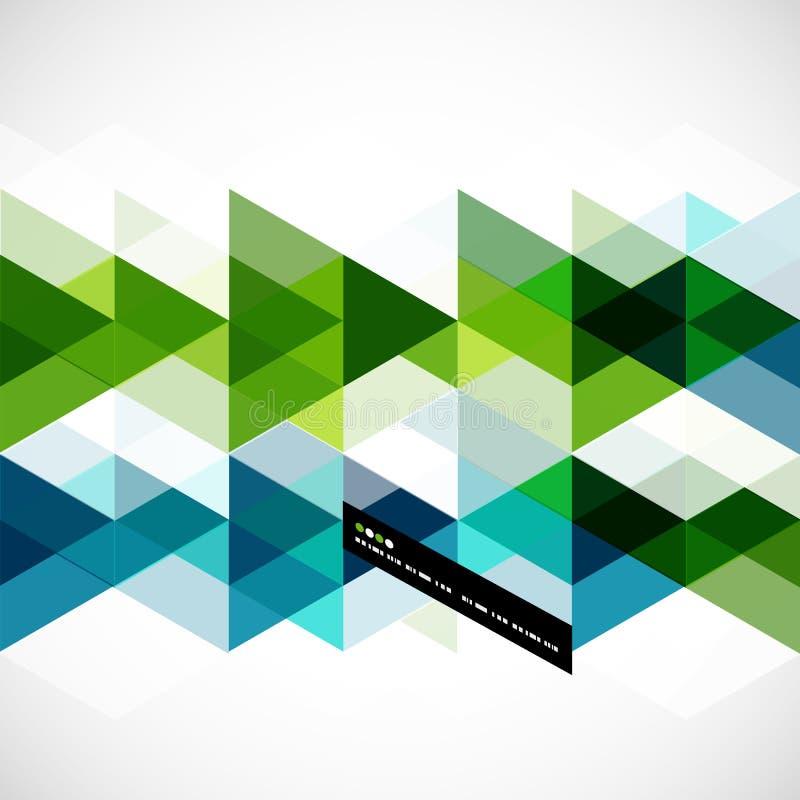 Plantilla abstracta geométrica moderna ilustración del vector