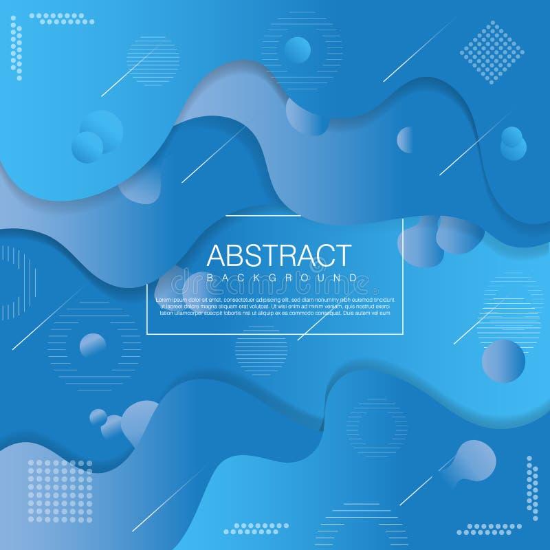 Plantilla abstracta líquida del fondo con color suave libre illustration