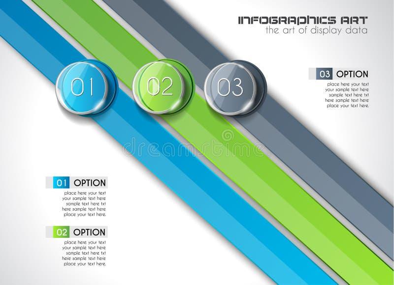 Plantilla abstracta moderna de Infographic para exhibir los datos, productos ilustración del vector
