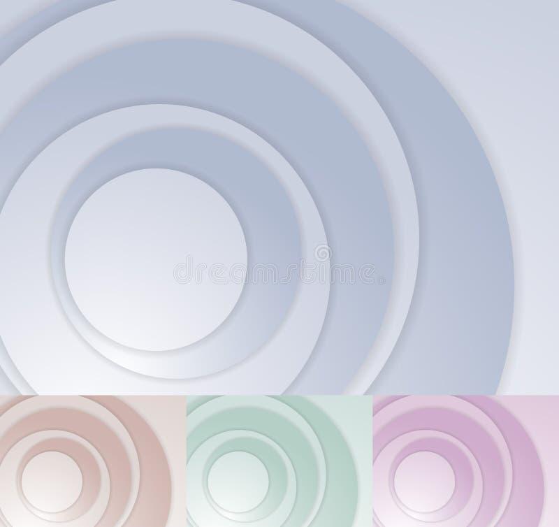 Plantilla acodada del fondo del círculo libre illustration