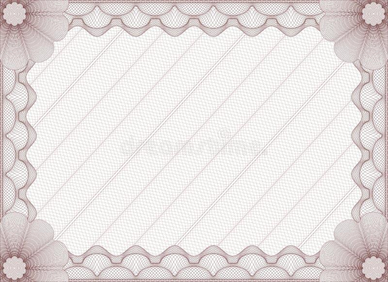 Plantilla aislada certificado rojo libre illustration