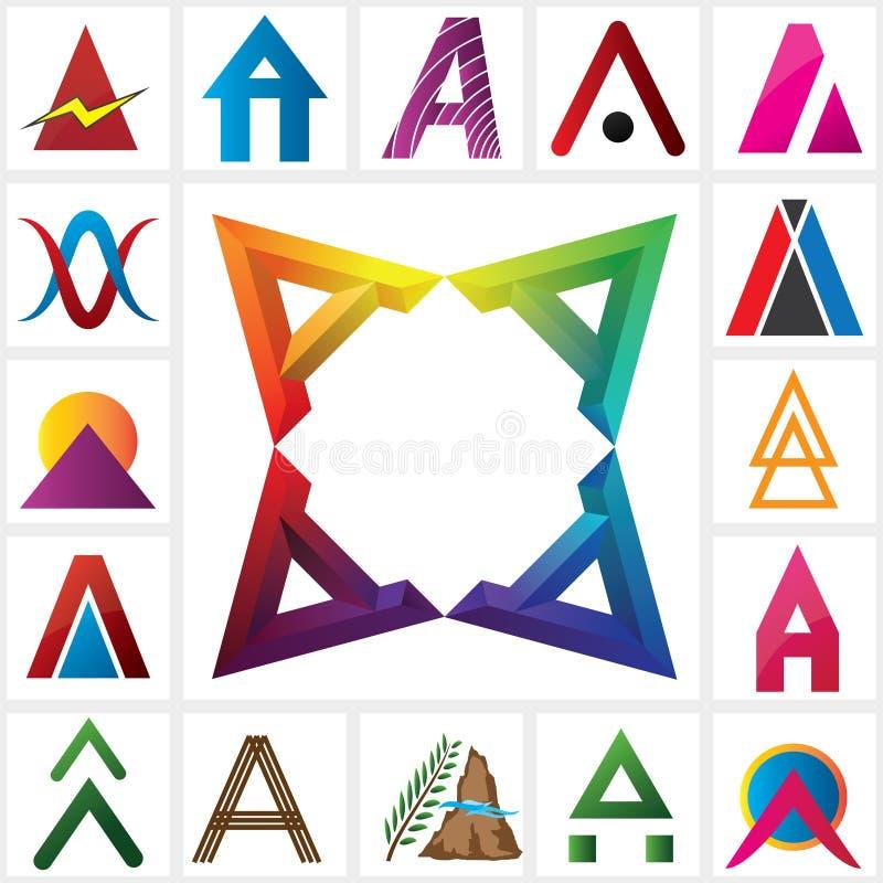 Plantilla alfabética del logotipo de la letra AAAA libre illustration