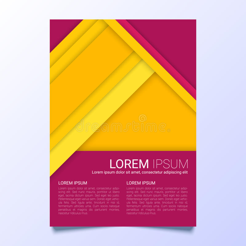 Plantilla amarilla y púrpura creativa del vector del aviador de tamaño A4 libre illustration