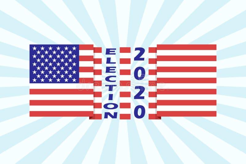 Plantilla americana 2020 del fondo de la elección presidencial Vector libre illustration