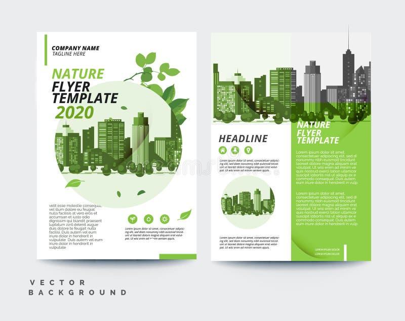 plantilla amistosa del diseño a4 del aviador del folleto del negocio del diseño del eco libre illustration