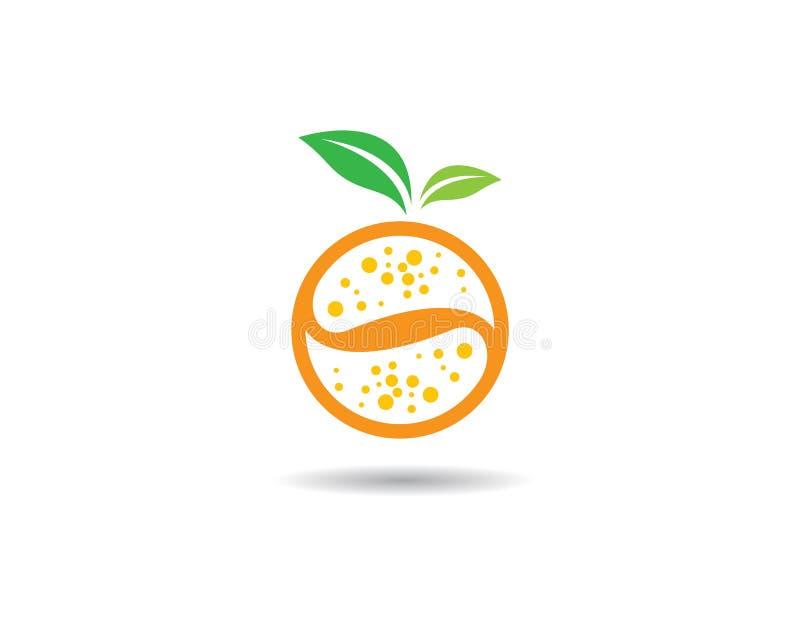 Plantilla anaranjada del logotipo stock de ilustración