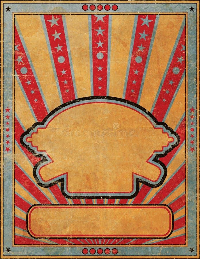 Plantilla antigua del cartel del aviador del prospecto del estilo del Grunge ilustración del vector